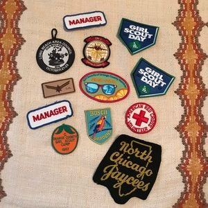 Bundle of Assorted Patches Vintage and New Mix